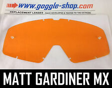 GOGGLE-SHOP REPLACEMENT LENS for FOX MAIN MOTOCROSS MX GOGGLES ORANGE TINT pro