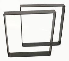 2er Set Tischbeine Bankkufen Stahl Bankgestell Industriedesign 40 x 40 x 6