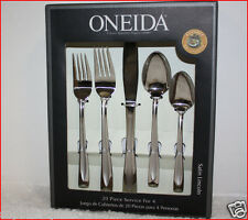 Oneida SATIN LINCOLN Gourmet Flatware - 18/0 Stainless 20 Pieces  Service for 4