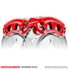 USA MADE Disc Brake Caliper set Red Powder Coated Power Stop S4970 L&R Rear Pair