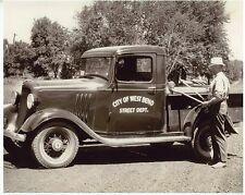 Circa 1930s Photo City of West Bend Truck West Bend WI image size 5 x 7 inches