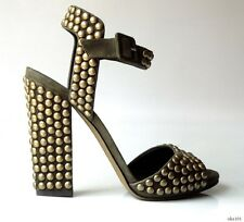 new $950 Giuseppe ZANOTTI ankle strap ALL STUDDED heels shoes 40 10 - SEXY
