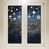 Christmas Hanging Balls Window Sticker Wall Decal Baubles Xmas Decorations