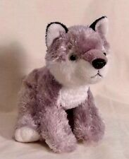 "GRAY WOLF HUSKY DOG FLOPPY BEANBAG PLUSH ADVENTURE PLANET 11"" LONG"