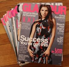 Lot of (12) Glamour Magazines (Jul 2014 - Jun 2015)