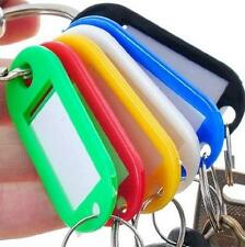 Fashion 10PCS KEY ID TAGS MULTI COLOURED FOB RING IDENTIFIERS + NAME CARD Tool