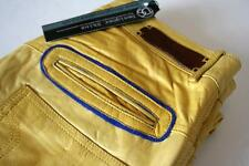 "Roberto Cavalli Skinny Yellow Leather Trousers Jeans W 32"" L 32"" RRP £800 pants"