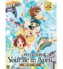 DVD Your Lie In April / Shigatsu wa Kimi no Uso ( Vol.1 - 22 End + OVA ) Eng SUB