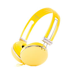Childs Kids Boys Girls Yellow DJ Headphones Earphones Over-Ear Lightweight iPad