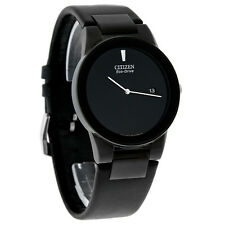 Citizen Eco-Drive Axiom Series Black Leather Strap Mens Watch AU1065-07E