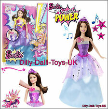 NEW Barbie Princess Power Super Hero Doll Sparkle Corrine Light Up & Sounds