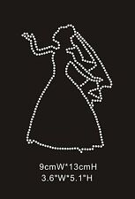 Bride Silhouette Diamante Rhinestone Crystal Iron On Transfers - £2.29 FREE P&P