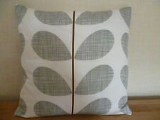 Handmade Cushion Cover using Orla Kiely Grey Stem fabric- 40cm x 40cm Reversible