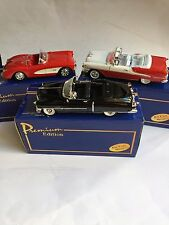 3 AMERICAN MINT Cars of the Rock'N'Roll Collection1:24 Diecast Models W/COA NIB