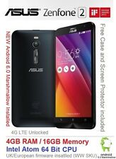 "Asus Zenfone 2 ZE551ML 5.5"" Android 6 Smartphone Dual SIM 4GB RAM Intel 4G NEW"