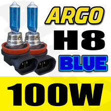 2X XENON BLUE 708 / H8 100W 12V 8500K HIGH/LOW BEAM  BULB HEADLIGHTS UPGRADE
