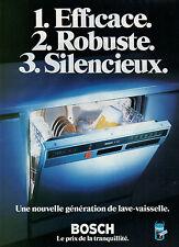 Publicité 1978  Lave vaisselle BOSCH  E 700