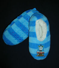 """THOMAS & FRIENDS""  BOYS/GIRLS FUZZY SLIPPER SOCKS/SLIPPERS  SIZE 2-3  NWT"