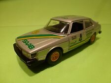 BBURAGO 1:27 SAAB 900 TURBO - RALLY - RARE SELTEN - GOOD CONDITION 1:24