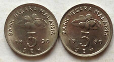 Second Series 5 sen coin 1990 2 pcs