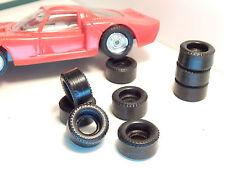 8 pneus urethane pour DROMOCAR POLISTIL1/43