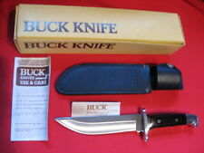 Buck 124 Frontiersman Bowie Knife - 1980's - New Old Stock