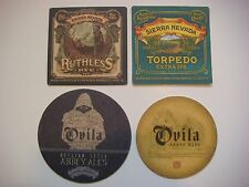 4 Cool Collectible Beer Coasters: SIERRA NEVADA Brewing Ruthless Rye IPA, Ovila+