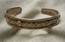 Vintage Sterling Cuff Bracelet - Golf Club & Ball Motif - 29.3g Unisex