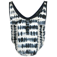 ANTHONY VACCARELLO $1040 tie dye silk shirt open back harness crop top 38-FR NEW