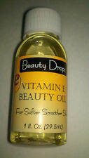 Vitamin E Beauty Oil 1 oz for Softer Smoother Skin by Beauty Drops Skin Care New
