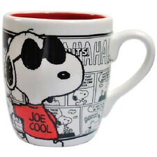 Peanuts Snoopy As Joe Cool Over Comic Strips 13 oz. Ceramic Mug, NEW UNUSED