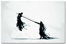 FINAL FANTASY CLOUD vs SEPHIROTH Game Art Silk Wall Poster 24x36 inch 003