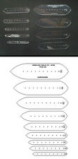 METRIC TAPERED ENDS STRAP TEMPLATE SET FOR LEATHER CRAFT - TPSETTSM