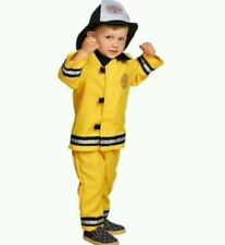 OLD NAVY FIREMAN FIREFIGHTER COSTUME WITH HAT 6-12 MO HALLOWEEN 6 9 12