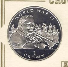Moneda de 1994 Corona Gibraltar Guerra Mundial 11... Glenn Miller. UNC