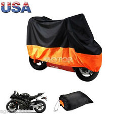 XXL Motorcycle Motorbike Waterproof Cover Rain Protection Breathable Outdoor US