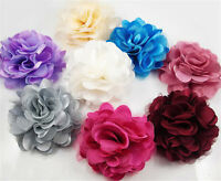 Hot Romantic Blooming Flowers Brooch Hair Pins Clips Shoes Accessory Silk Lace