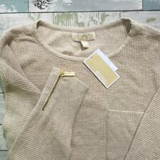 Women's Michael Kors NEW Sweater Size Extra Large Oatmeal color $99.50