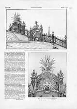 47. Exposition Universelle Palais de l'Electricité  ANTIQUE PRINT 1900