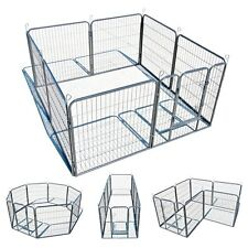 Dog Kennel Outdoor Pet Play Pen Cat Cage 8 Panels Heavy Duty Metal Exercise NEW