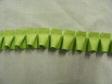 Box Pleated  Lime Green Grosgrain Ribbon x 5 mts