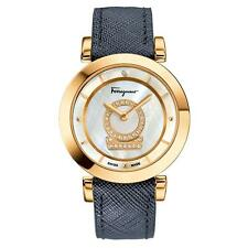 Salvatore Ferragamo Women's FQ4060013 Minuetto Gold IP Steel DIAMONDS Watch