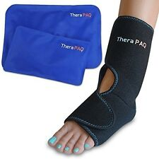 Foot and Ankle Pain Relief Ice Wrap With 2 Hot / Cold Gel Packs | Best For and