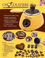New Chocolatiere Chocolate Melting Pot Maker Fondue Electric Set Mould Fountain