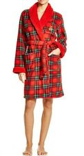 NWT Lauren Ralph Robe Short Bonded Sherling Lined Anderson Plaid/Red Holiday XL