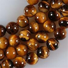 """8mm African Roar Tiger's Eye Round Loose Beads 15"""""""