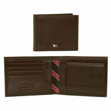 Tommy Hilfiger Eton Leather Credit Card & Coin-Pocket Men's Wallet, Brown