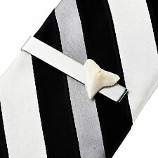 Real Shark Tooth Tie Clip - Tie Clasp - Business Gift - Handmade - Gift Box