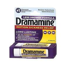 Dramamine Motion Sickness Relief Less Drowsey Formula, 8 Count (Best Deal)