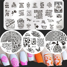 Born Pretty Nail Art Stamping Image Plates Flower Butterfly Design Templates DIY